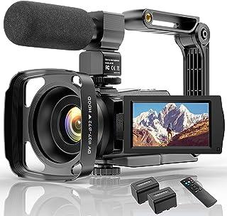 4K Camcorder HD Digitale Video Camera voor Youtube WiFi Vlogging Camera, IR Night 48MP 16X Digitale Zoom 3.0 Inch 270 ° Dr...