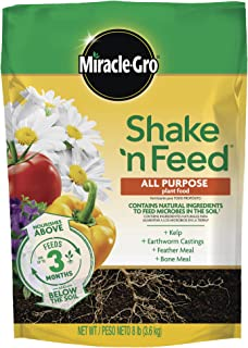 Miracle-Gro Shake 'N Feed All Purpose Plant Food, 8 lbs, Covers 320 sq. ft.
