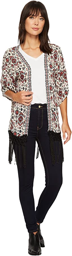 Rock and Roll Cowgirl - 3/4 Sleeve Kimono B4-3168