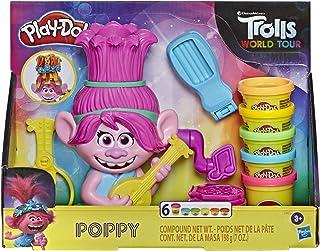 Play-Doh Trolls World Tour Kappersplezier Poppy, Stylingspeelgoed, Voor Kinderen Vanaf 3 Jaar, Met 6 Play-Doh Kleuren