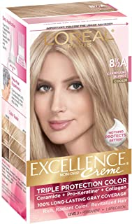 L'Oreal Paris Excellence Créme Permanent Hair Color, Champagne Blonde [8.5A] 1 ea ( Packs of 4)