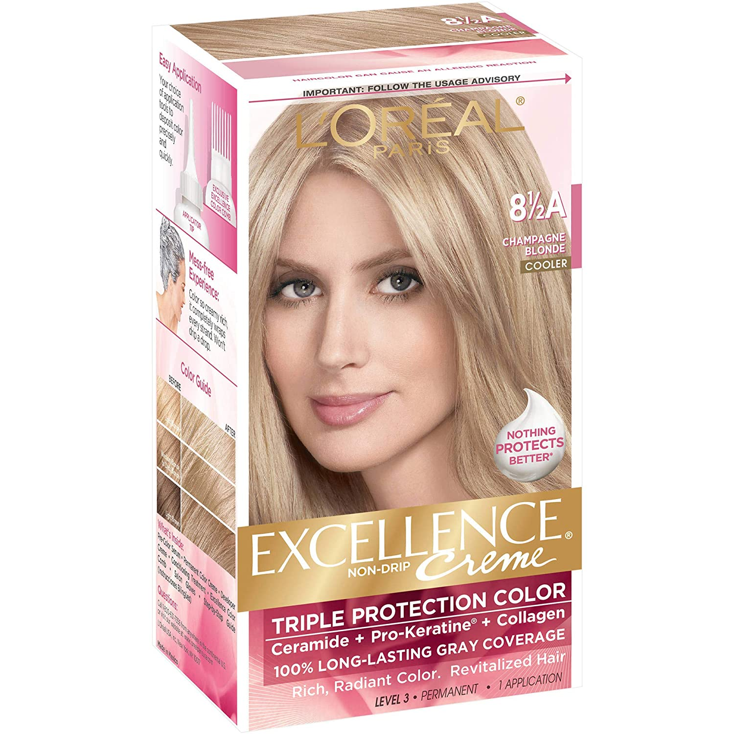 L'Oreal Paris A surprise price is realized Ranking TOP20 Excellence Créme Permanent Champagn Hair Color