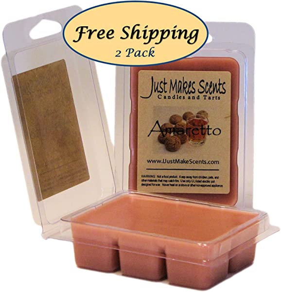 2 Pack Amaretto Scented Soy Wax Melts Hand Poured Amaretto Fragrance Wax Cubes Made In The USA By Just Makes Scents Candles Gifts