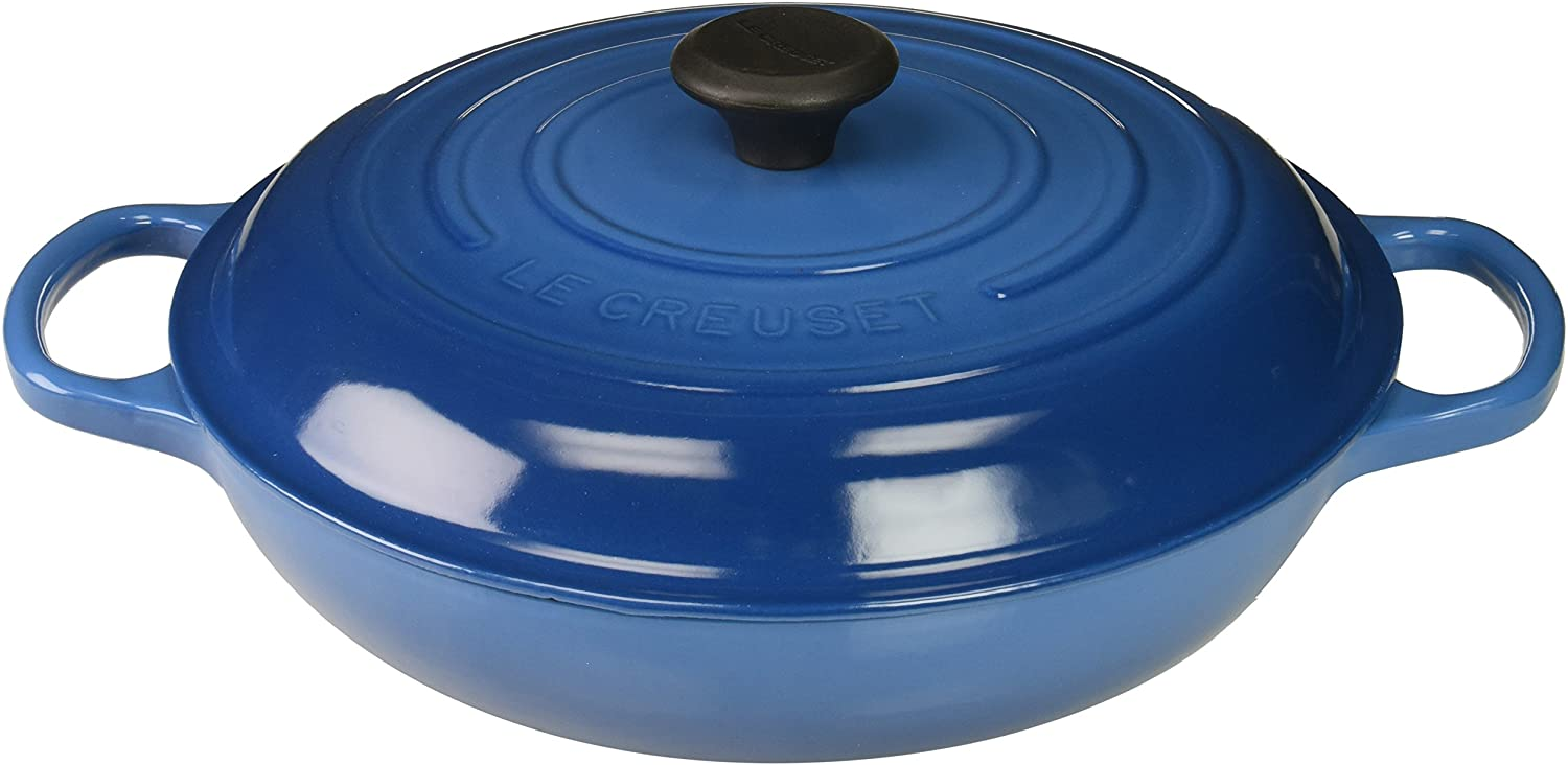Le Creuset Enameled Cast Iron Signature Braiser, 3.5 qt., Marseille
