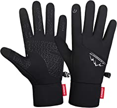 Anqier Running Gloves Lightweight Touchscreen Gloves Warm Liner Winter Gloves Men Women