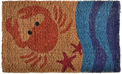 Imports Decor Printed Coir Doormat, Crab, 18-Inch by 30-Inch