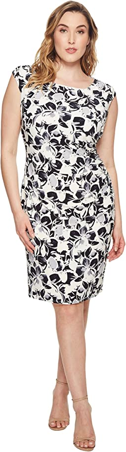 Plus Size Koriza Montero Floral Matte Jersey Dress