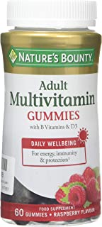 Nature's Bounty Multivitamínico Adultos Gummies con Vitaminas B y D3-212 gr