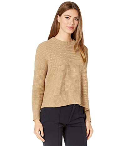 Eileen Fisher Crew Neck with Drop Sleeve Sweater (Honey) Women