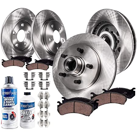 KOE1915 Powerstop 4-Wheel Set Brake Disc and Pad Kits Front /& Rear New for F-150