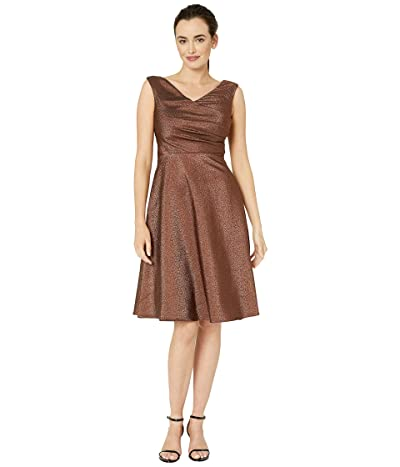 Adrianna Papell Stretch Lame Party Cocktail Dress (Copper) Women
