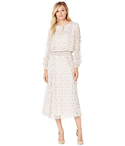 LAUREN Ralph Lauren Floral Georgette Dress (Mascarpone Cream Multi) Women