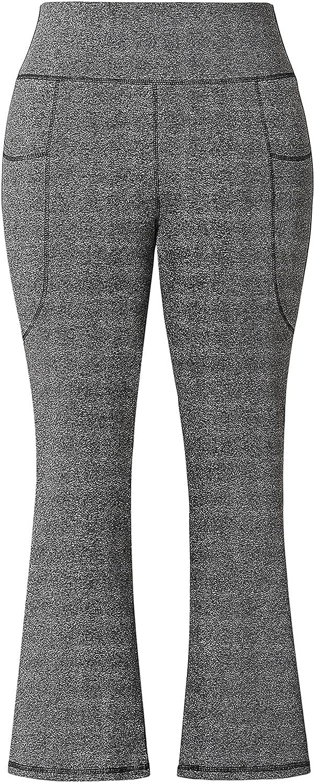Honwenle Women's Plus Size Bootcut Yoga Waist Bootleg Pants Max Max 52% OFF 58% OFF High
