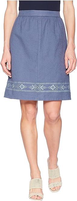 Embroidered Hem Skirt