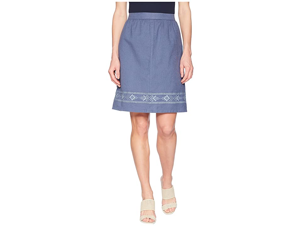 Pendleton Embroidered Hem Skirt (Vintage Indigo/Stonewash) Women