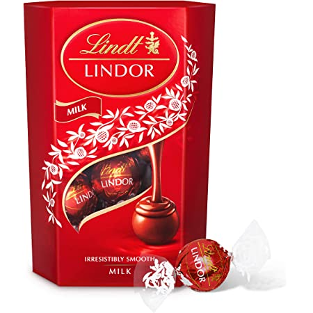 Lindt Lindor Milk Chocolate Truffles Box - The Ideal Gift - Chocolate Balls with a Smooth Melting Filling, 200 g