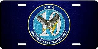 ExpressItBest Premium Aluminum License Plate - U.S. Navy 10th Fleet, Emblem