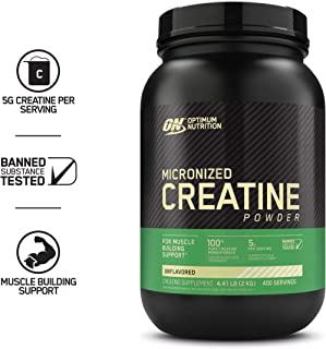 Optimum Nutrition Micronized Creatine Monohydrate Powder, Unflavored, Keto Friendly, 400 Servings, 70.54 Ounce