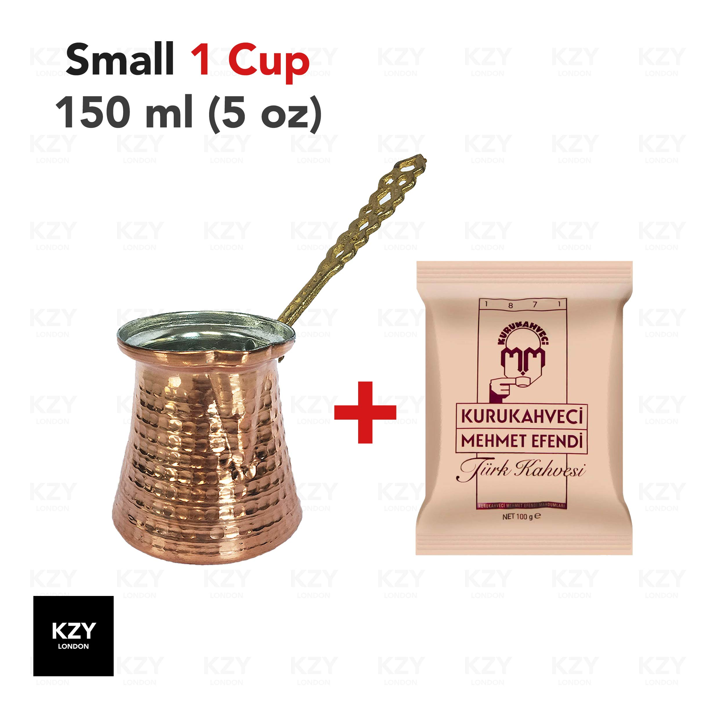 Cafetera turca de cobre 150 ml + 100 gr coffee cobre: Amazon.es: Hogar