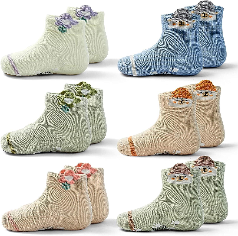 Baby Non Slip Socks Baby Girls Knee Socks With Grips For Baby Boys Cotton Anti skid Socks