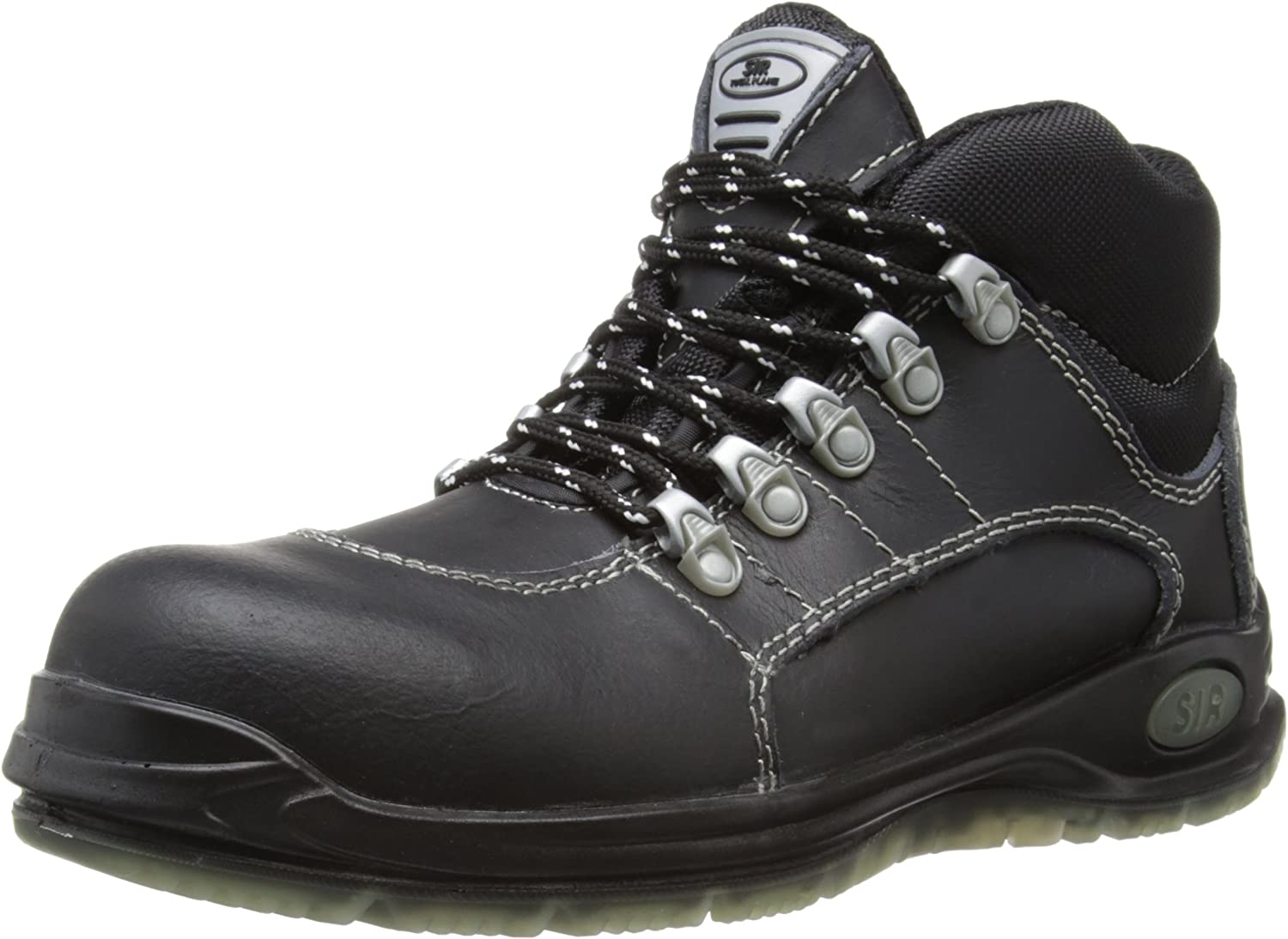 SIR Safety Unisex-Adult Platinum High shoes Safety Boots 22034 Black 7 UK, 41 EU