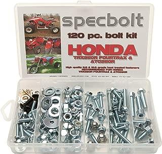 Specbolt Fasteners Brand 120pc Bolt Kit for Honda TRX250R Fourtrax ATC250R Quad 3 wheelers TRX ATC 250R
