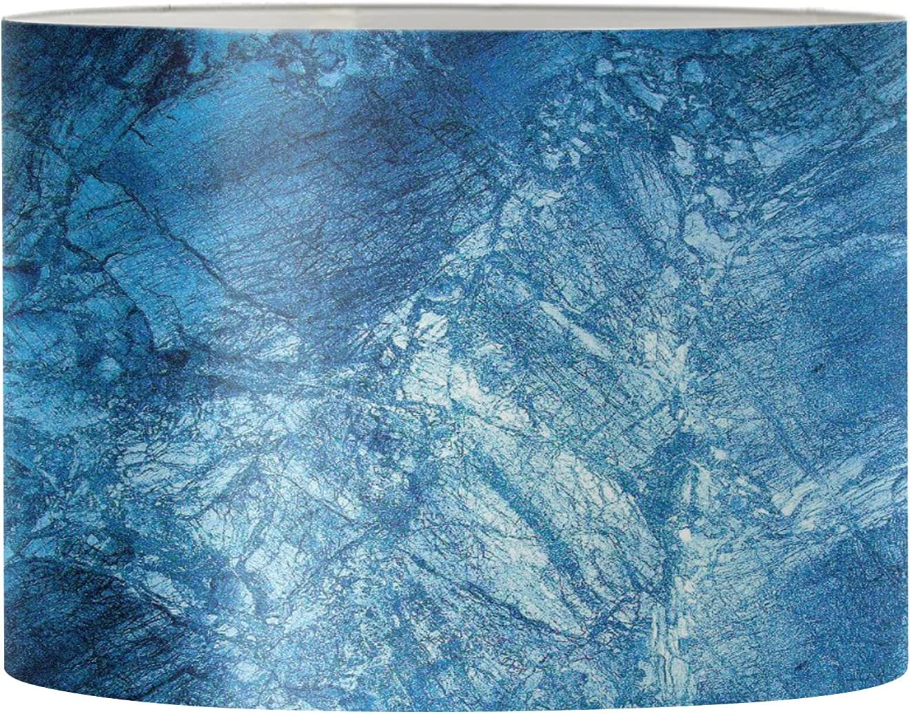 Poceacles Large 17 x 10.4 Inches Challenge the lowest price Special price for a limited time of Japan Blue Fabric Drum with Marb Lamp
