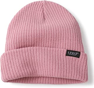Winter Knitted Cuffed Beanie Hats for Women Soft Watch Hat Classic Knit Stretchy Warm Cap for Men