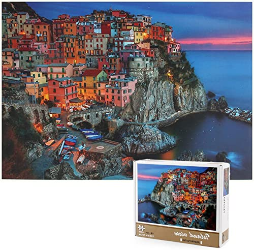 """OPTIMISTIC 1000 Piece Jigsaw Puzzle for Adults, Puzzles for Adults 1000 Piece Challenging Educational Family Game DIY Mural Toys Gift - Island Villa, Puzzles for Kids 27"""" x 19"""""""