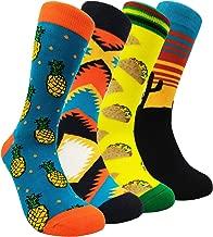 Funny Mens Colorful Dress Socks - HSELL Fun Novelty Patterned Crazy Design Socks