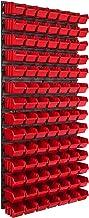 Opslagsysteem wandrek 578 x 1170 mm, 98 stuks box, stapelboxen opbergkast, extra sterke wandplaten, uitbreidbaar, werkplaa...