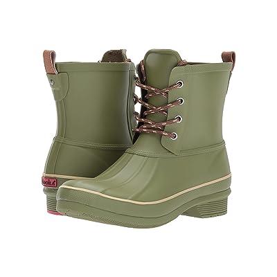 Chooka Classic Rain Duck Boot (Olive Green) Women