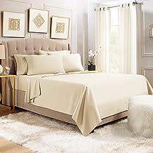 Empyrean Bedding Premium 6-Piece Bed Sheet & Pillow Case Set - Luxurious & Soft Full (Double) Size Linen, Extra Deep Pocke...