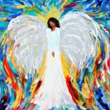 Angel print - Karen Tarlton, Angel Watching over Me ~ 8x8, 12x12, 20x20, 30x30 inches