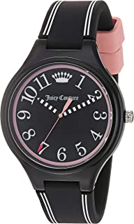 Juicy Couture Women's Day Dreamer Quartz Watch with Silicone Strap, Black, 17 (Model: 1901562)