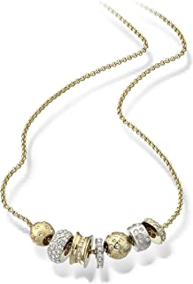 Swarovski Women Cubic Zirconia Gold and Silver Plated Necklace, 41-45cm