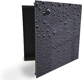 GlassArtist 71110537 Boîte à clés avec façade en Verre magnétique 30 x 30 cm