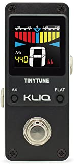 TinyTune Tuner Pedal for Guitar and Bass - Mini - Chromatic - with Pitch Calibration and Flat Tuning (Power Supply Required) Black