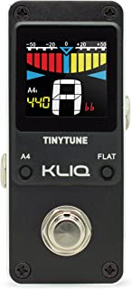 KLIQ TinyTune Tuner Pedal for Guitar and Bass - Mini -...