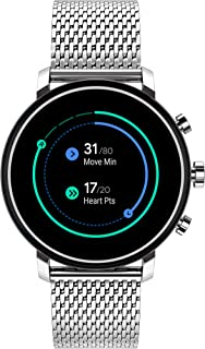 Connect 2.0 Unisex Powered with Wear OS by Google Stainless Steel and Stainless Steel Smartwatch, Color: Silver (Model: 3660032)