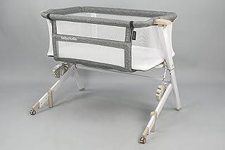 Baby Studio Bedside Sleeper for Baby, Grey/White,