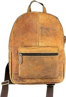Stonkraft 100% Genuine Leather Unisex Bag/Backpack | Office Bag | College Bag | Laptop Bag