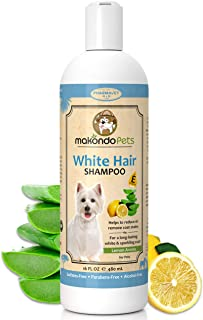Dog Whitening Shampoo– for Dogs with White/Light Colored Hair/Coat/Fur–White Haired Pets Shampoo for Itching/Dry/Sensitive...