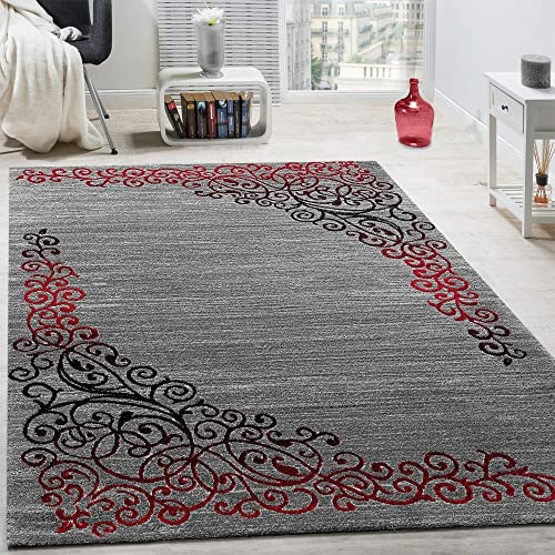 Red And Grey Rug Amazon Co Uk