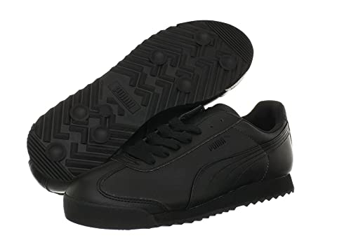 black puma roma sneakers