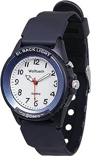 WOLFTEETH 男の子 腕時計 子ども用 スポーツウォッチ クオーツ アナログ 夜光 アラビア数字 防水 3052