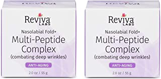 Reviva Labs Nasolabial Fold & Multi-Peptide Complex for Deep Wrinkles, 2 ounce (Pack of 2)