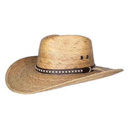 0a7656903b510 Vamuss Straw Cowboy Palm Leaf Hat