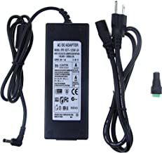 24V 5A 120W Power Supply 100V-240V or 110V - 220V AC to DC Adapter 24V 5amp Switching Converter Charger 5.5x2.1mm Plug for Routers CCTV IP Security Cameras 5050 3528 LED Strip Mould Lights