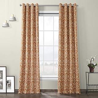 HPD Half Price Drapes BOCH-KC104A-96-GR Grommet Blackout Room Darkening Curtain (1 Panel), 50 X 96, Nouveau Rust
